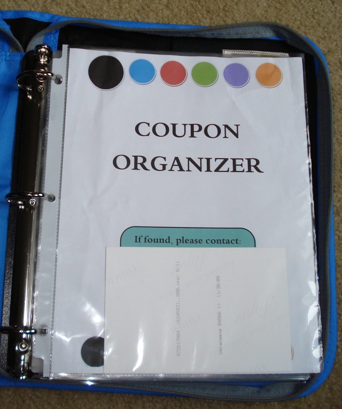 Organizing: My Coupon Binder